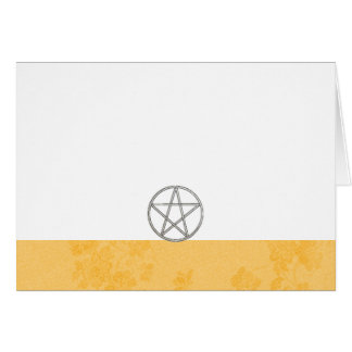Choose Your Color Buttercup & Pentacle Fab. Blank Card