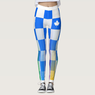 Choose YOUR Color Canadian Maple Checker Rainbow Leggings