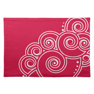 Choose Your Color Charming Swirls Placemat