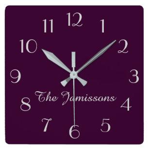 Wall Clock Dandelion Purple Whatever Im Late Anyways