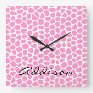 Choose Your Color Giraffe Wall Clock