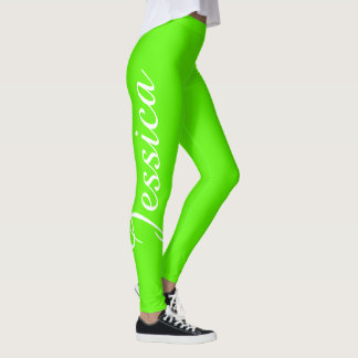 CHOOSE YOUR COLOR Name Leggings Custom Yoga Pants