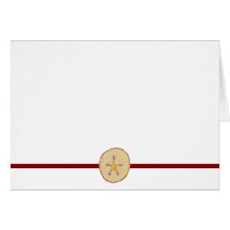Choose Your Color Pentacle Apple Slice Blank Card