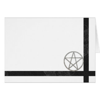 Choose Your Color Pentacle & Black Fabric Blank Card