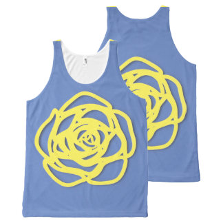 Choose Your Color Rose on Blue All-Over-Print Tank Top