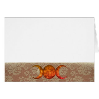 Choose Your Color Vint. Lace & Red Gold Trip. Moon Card