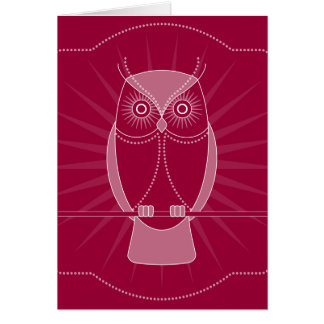 Choose Your Color Wise Old Owl Notecard