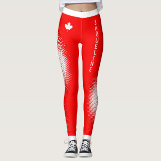 Choose YOUR Color / YOUR Name White Dot Pattern Leggings