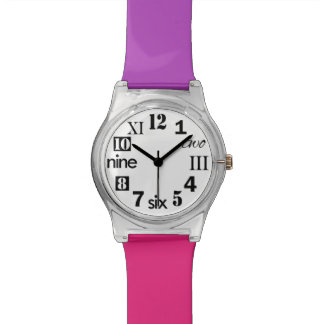 Choose Your Colors, Cute Number Face Women's Watch