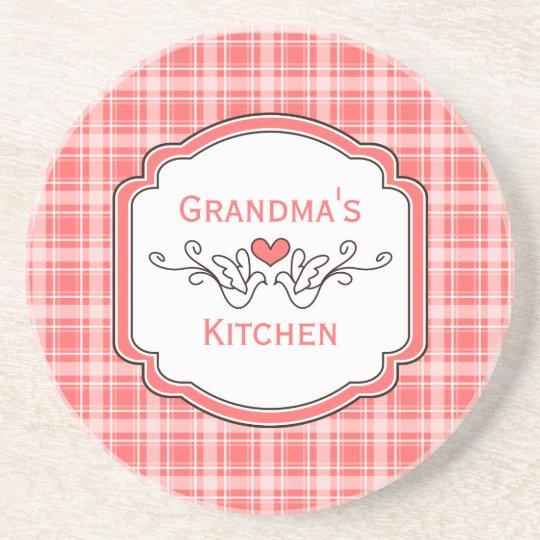 Choose Your Colour Cozy Plaid Grandma's Coaster
