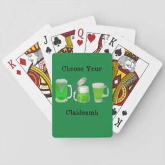Choose Your Gaelic Weapon Playing Cards