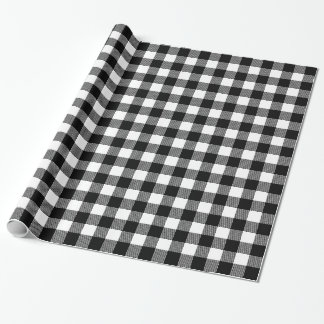Choose Your Own Background Color Buffalo Plaid Wrapping Paper