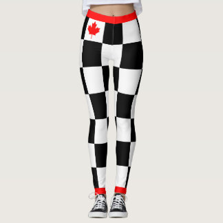 Choose your Own Color Canadian Maple Checkered Leggings