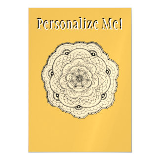 Choose Your Own Color Lace Crochet Look Flower Magnetic Invitations