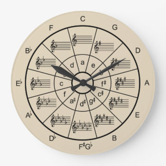 Choose your own color musicians wall clock