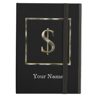 Choose Your Own Diamond Cut Metal Initial iPad Cas Cover For iPad Air