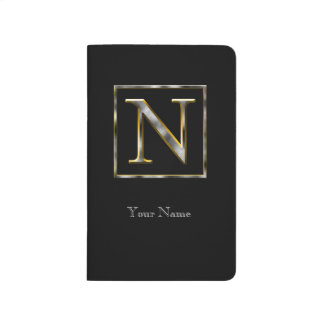 Choose Your Own Diamond Cut Metal Initial Journal