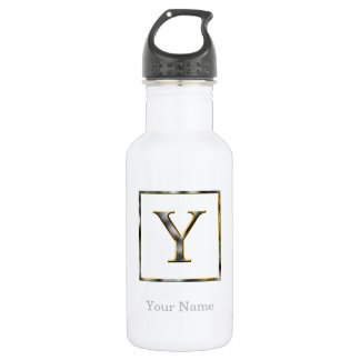 Choose Your Own Diamond Cut Metal Initial Water Bo 532 Ml Water Bottle