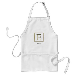 Choose Your Own Shiny Gold Monogram Apron