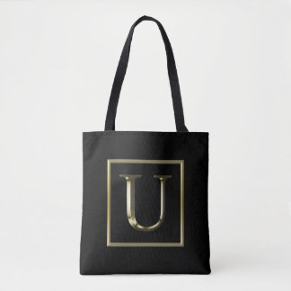 Choose Your Own Shiny Gold Monogram Bag