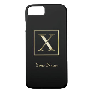 Choose Your Own Shiny Gold Monogram iPhone 7 iPhone 8/7 Case