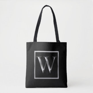 Choose Your Own Shiny Silver Monogram Bag