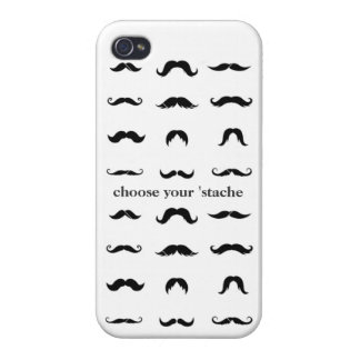 Choose your 'stache iPhone 4 case