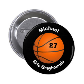 Choose your Team Color Personalized Basketball II 2 Inch Round Button