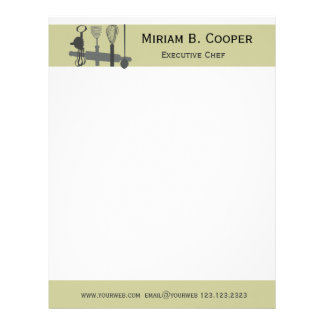 Choose Your Weapon Executive Chef Professional Letterhead
