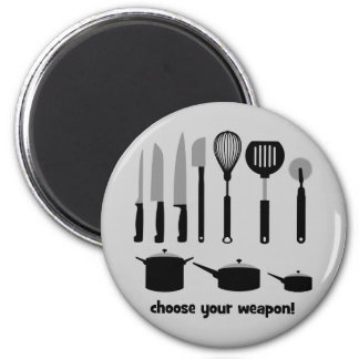 choose your weapon 2 inch round magnet