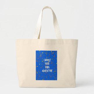 Choose yr own adventure - Wisdom Script Typography Canvas Bags
