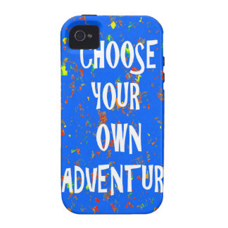 Choose yr own adventure - Wisdom Script Typography Vibe iPhone 4 Covers