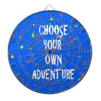 Choose yr own adventure - Wisdom Script Typography Dart Board
