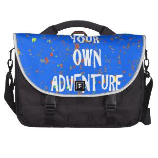 Choose yr own adventure - Wisdom Script Typography Bag For Laptop