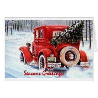Choosing Your Own Vintage Christmas Tree Card