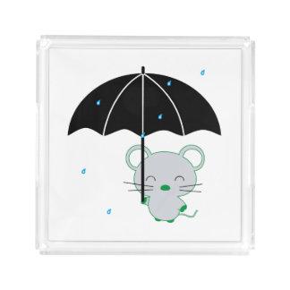 Chootan and umbrella acrylic tray