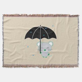 Chootan and umbrella throw blanket