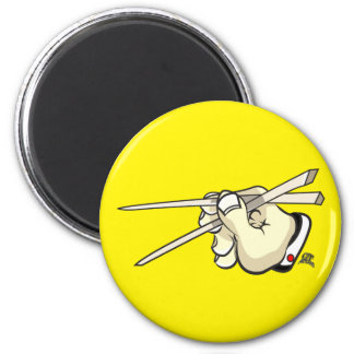 Chop Sticks Asian Design 2 Inch Round Magnet