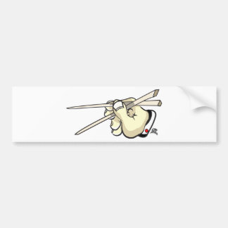 Chop Sticks Asian Design Bumper Sticker