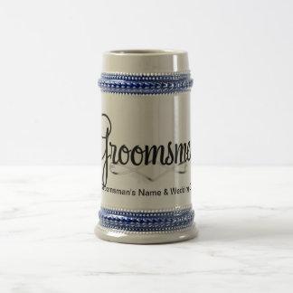 Chope À Bière Cadeau de mariage de Groomsman