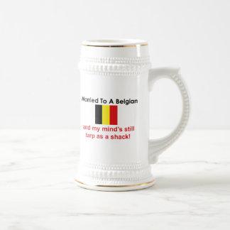 Chope À Bière Marié à un Belge