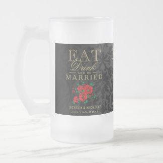 Chope Givrée Mangez, boisson et soyez marié - mariage