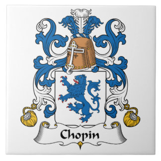Chopin Family Crest Tile
