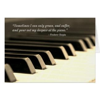 Chopin Piano Greeting Card