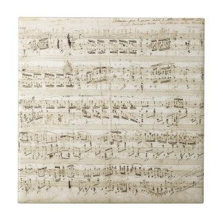 Chopin Sheet Music Tile