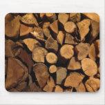 Chopped Fire Wood Mousepads