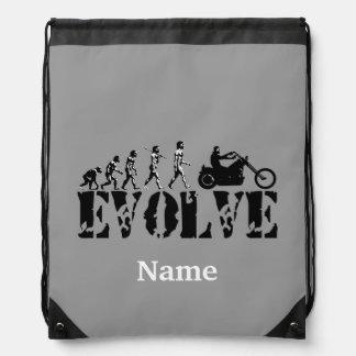Chopper Biker Motorcycle Sports Personalized Drawstring Bag