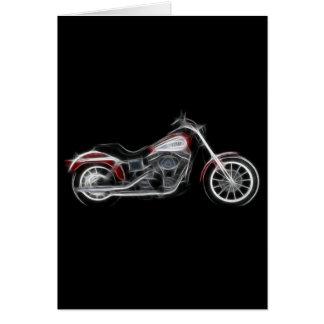 Chopper Hog Heavyweight Motorcycle Greeting Card
