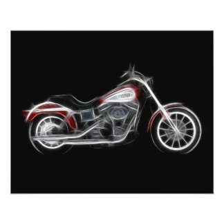 Chopper Hog Heavyweight Motorcycle Personalized Flyer