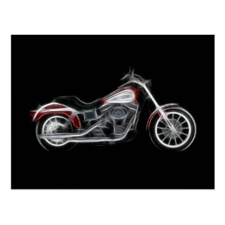 Chopper Hog Heavyweight Motorcycle Postcard